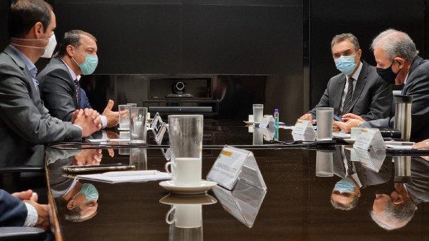 As pautas envolvendo as demandas do setor energético de Santa Catarina com o ministro Bento Albuquerque contaram com a participação do presidente da Celesc, Cleicio Poleto Martins. - Foto: Peterson Paul / Secom