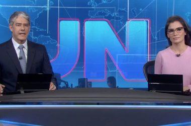 Willian Bonner e Renata Vasconcellos são os âncoras do JN. - Foto: Reprodução/TV Globo